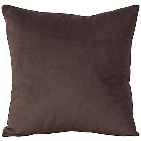 "Howard Elliott Bella 20"" Chocolate Velvet Throw Pillow"