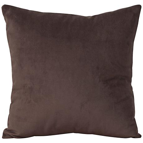 "Howard Elliott Bella 16"" Chocolate Velvet Throw Pillow"