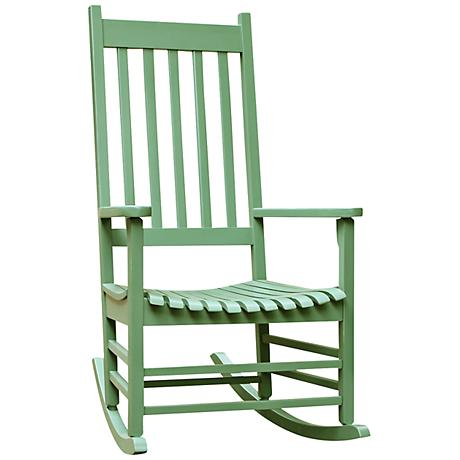 Porch Rocker Moss Acacia Wood Outdoor Rocking Chair