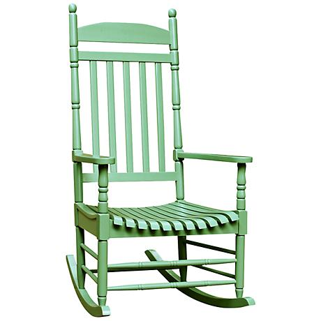 Porch Rocker Turned Post Moss Outdoor Rocking Chair