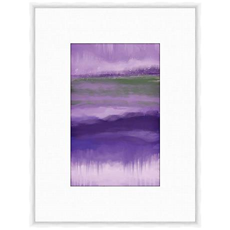 "Plum Abstract II 25 1/4"" High Framed Giclee Wall Art"