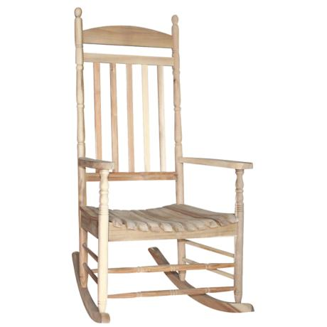Porch Rocker Turned Post Unfinished Outdoor Rocking Chair - #4F689 ...