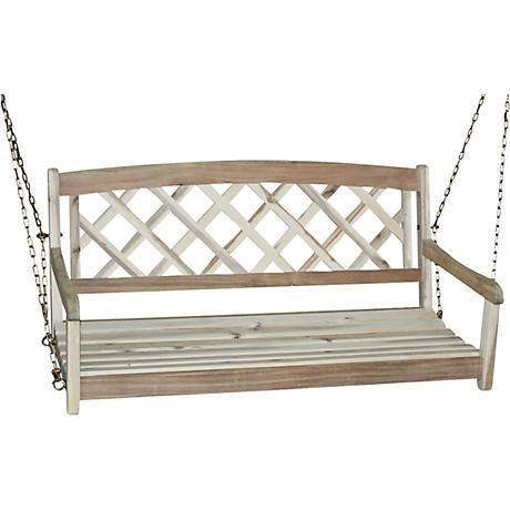 Acacia Wood X-Back Porch Swing