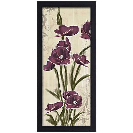 "Blossom Season I 20 1/2"" High Framed Giclee Wall Art"