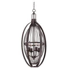 "Westchase 17"" Wide Bronze Chandelier"