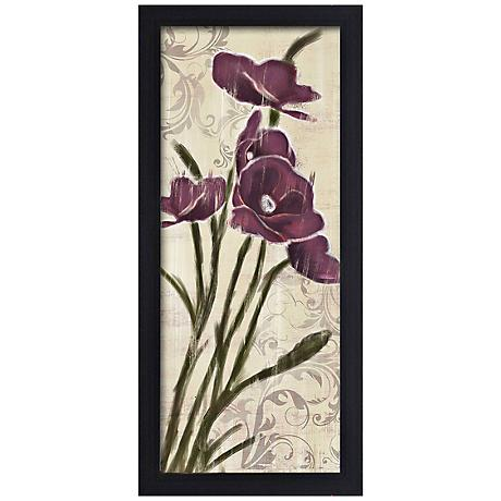 "Blossom Season II 20 1/2"" High Framed Giclee Wall Art"