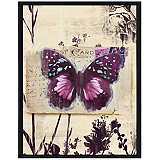 "Butterfly Postcard I 15 1/2"" High Framed Giclee Wall Art"