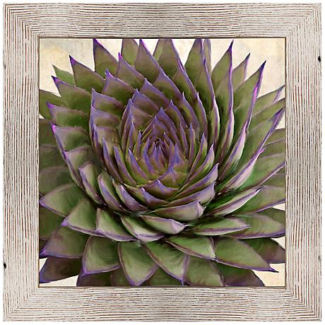 "Plum Aloe I 25 1/2"" Square Framed Giclee Wall Art"