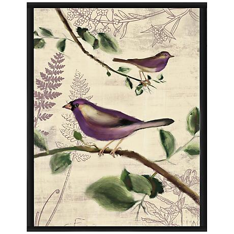"Love Birds II 16 1/2"" High Framed Giclee Wall Art"
