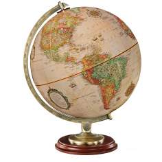 Kingston Antique Map Walnut Desk Globe