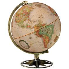Compass Rose Brass Desk Globe