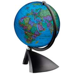 Terenne Illuminated Black Desk Globe