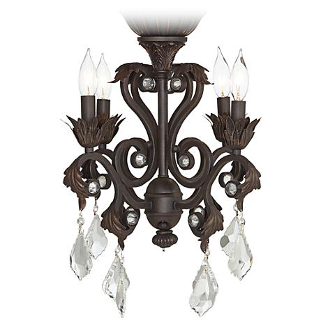 4-Light Oil-Rubbed Bronze Chandelier Ceiling Fan Light Kit