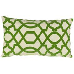 "Tangle Green 20"" Wide Lumbar Pillow"
