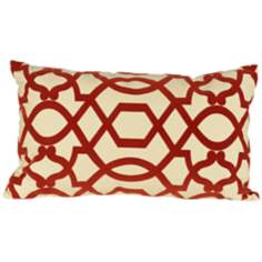 "Tangle Red 20"" Wide Lumbar Pillow"
