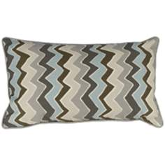"Serpentine Grey 20"" Wide Lumbar Pillow"