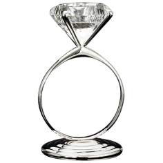 Godinger Diamond Ring Silver Tealight Holder