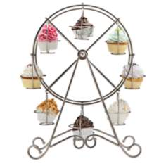 Godinger Ferris Wheel Silver Cupcake Holder