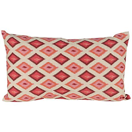 "Kite 20"" Wide Red Lumbar Pillow"