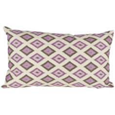 "Kite 20"" Wide Purple Lumbar Pillow"
