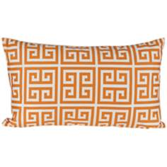 "Riddle 20"" Wide Orange Lumbar Pillow"