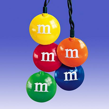 10 Lights Plastic M and M's Light Set