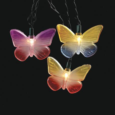 Butterfly Party String Lights : Butterflys 10-Foot Party String Light with 10 Lights - #4G351 www.lampsplus.com