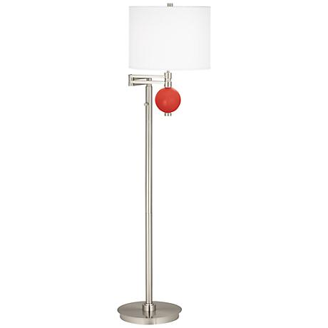 Cherry Tomato Niko Swing Arm Floor Lamp
