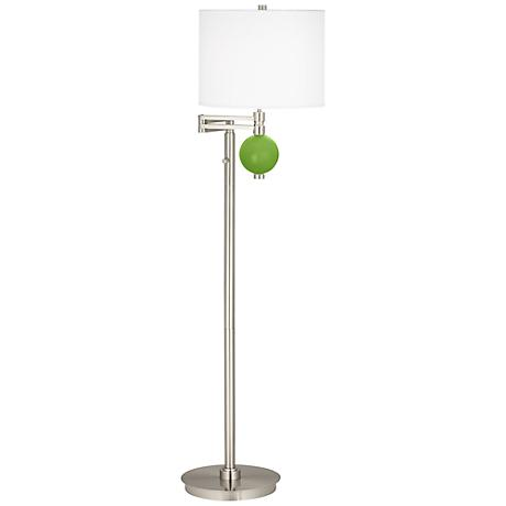 Rosemary Green Niko Swing Arm Floor Lamp