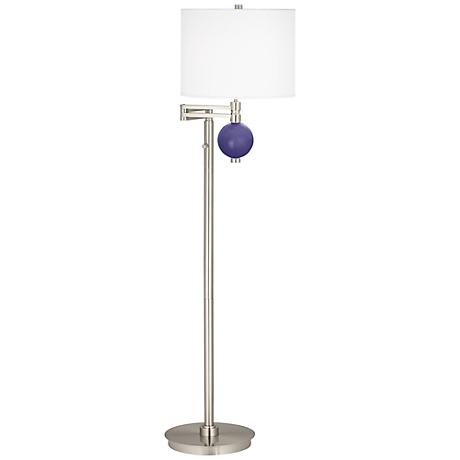 Valiant Violet Niko Swing Arm Floor Lamp