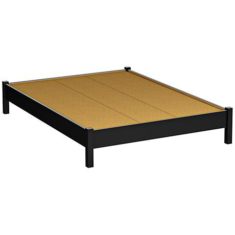 Kelley II Pure Black Platform Bed with Legs