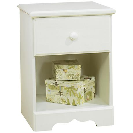 Summer Breeze Collection White Wash Night Stand