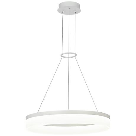 "Possini Euro Analla 23 3/4"" Wide Round LED Pendant Light"