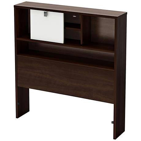 Cookie Collection Mocha Twin Bookcase Headboard