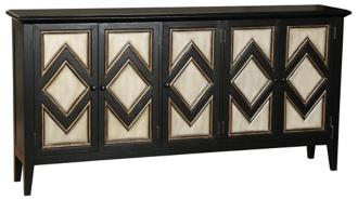 Mooney Diamond Chevron 5-Drawer Credenza (4H171)