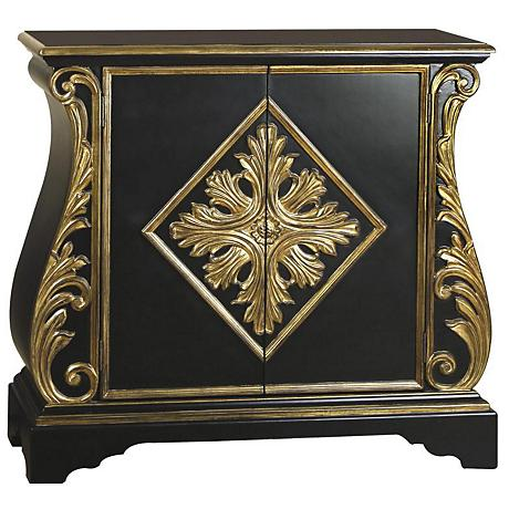 Pulaski Baron Golden Acanthus Matte Black Accent Chest