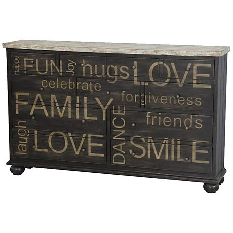 Pulaski Happy Words Two-Tone Wood Credenza