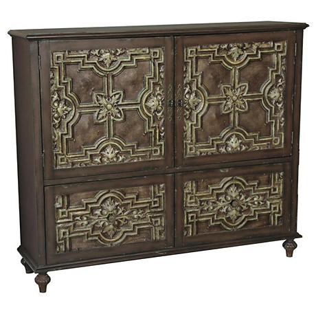 Pulaski Goodman Faux Tin Tile 11-Drawer Credenza