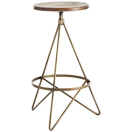 "Arteriors Home Wyndham Natural Wax 29 1/2"" Swivel Bar Stool"