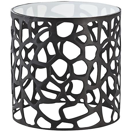 Arteriors Home Ennis Black Oxidized Iron Side Table