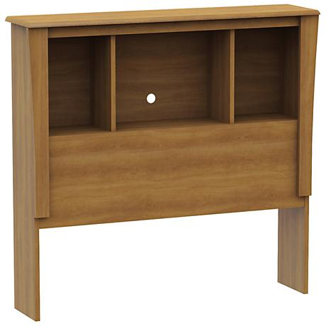 Jumper Collection Harvest Maple Twin Bookcase Headboard