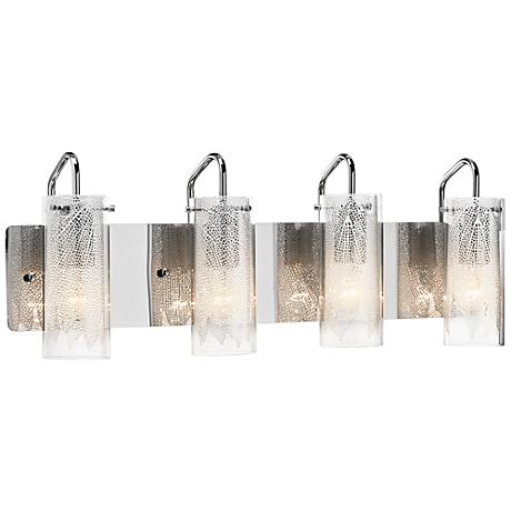 "Elan Krysalis 27"" Wide Chrome Bathroom Light"