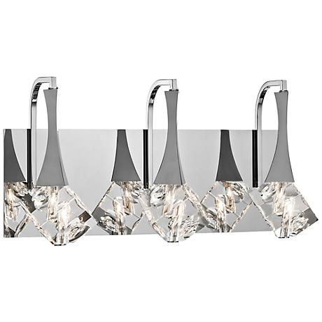 "Elan Rockne 17 3/4"" Wide Chrome Bathroom Light"