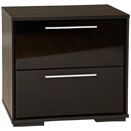 Mikka Collection Black Oak Night Stand