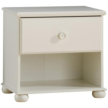 Sand Castle Collection Pure White Night Stand