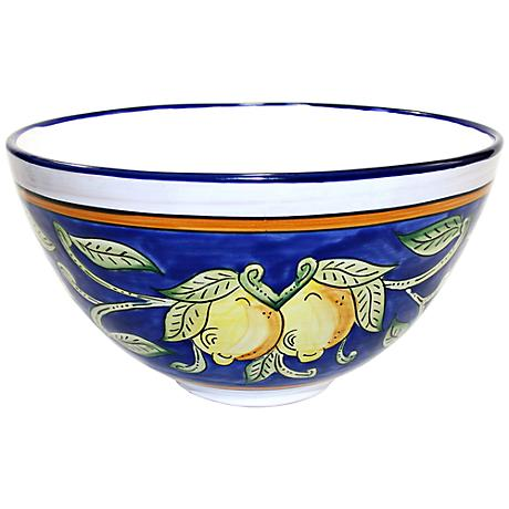 Le Souk Ceramique Citronique Design Deep Salad Bowl