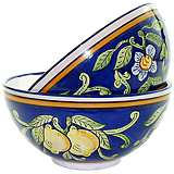 Le Souk Ceramique Citronique Set of 2 Deep Serve Bowls