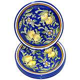 Le Souk Ceramique Citronique Design Set of 4 Side Plates