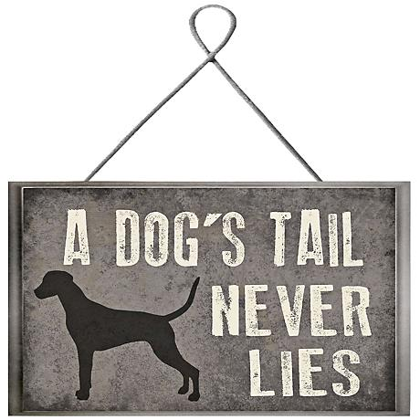 "Tail Never Lies Plaque 10"" High Framed Giclee Wall Art"