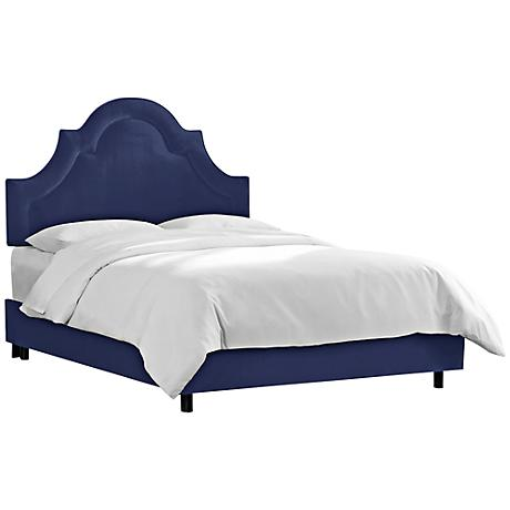 Velvet Navy Arched Border Beds